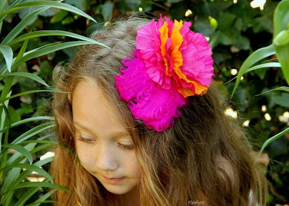 Astounding Tropical Punch Tiki Hair Clip Luau Party Dress Up Dance Hair Short Hairstyles For Black Women Fulllsitofus