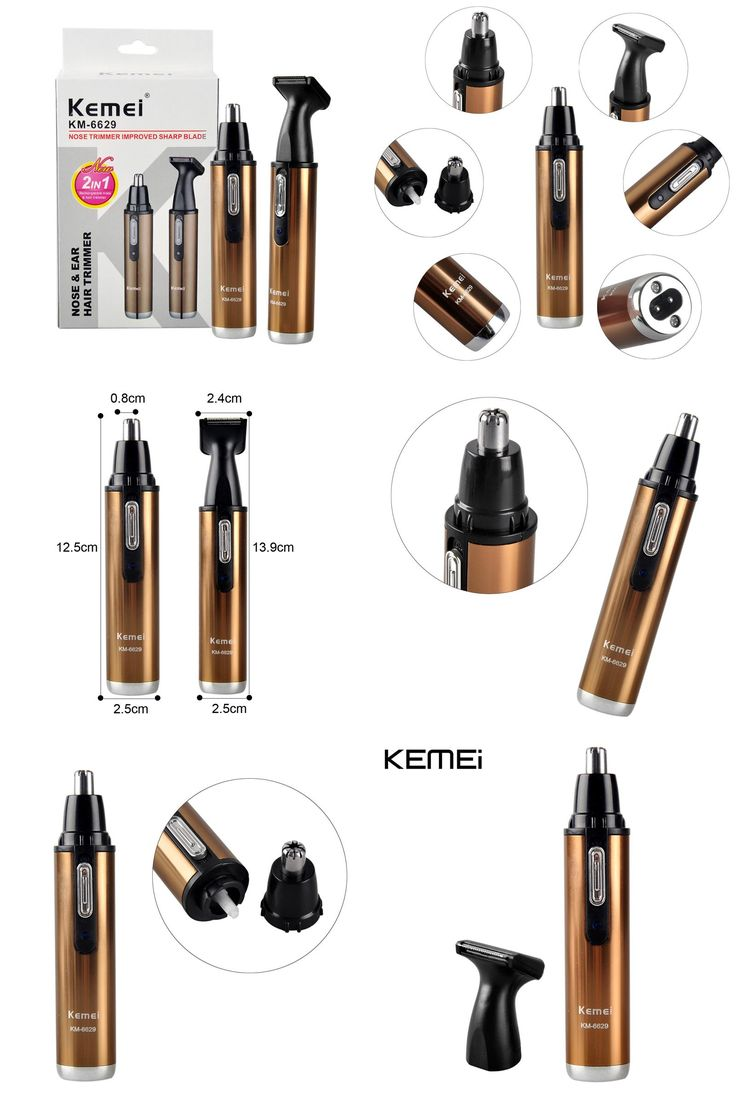[Visit to Buy] Kemei KM-6629 Fashion Electric Shaving 2 in 1 Nose Hair Trimmer Safe Face Care Shaving Trimmer For Nose Trimer for Man and Woman #Advertisement