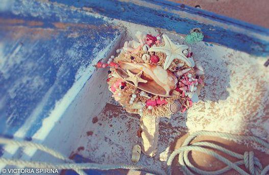 Букет невесты из ракушек Касабланка
