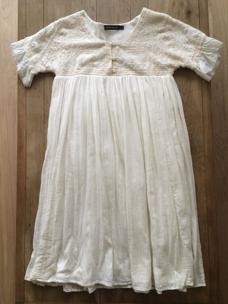 Robe tunique ANTIK BATIK Blanc, blanc cassé, écru