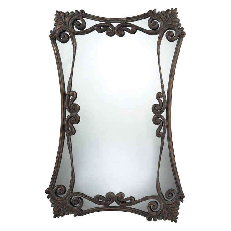 Sterling Industries Iron Bridge Scrolled Oversized Wall Mirror - 24W x 37H in. - 114-04