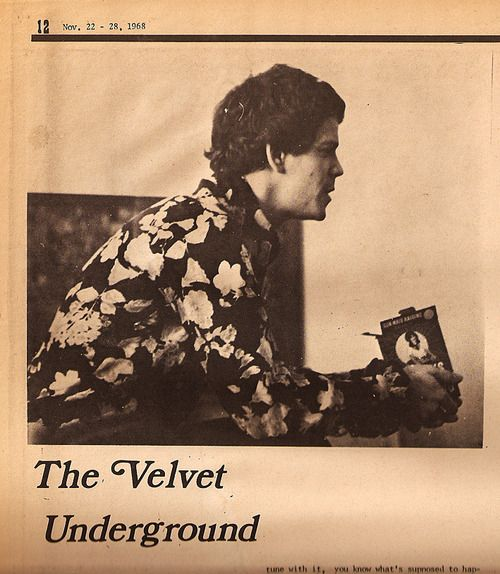 Lou Reed with raisins in Crawdaddy, 1968
