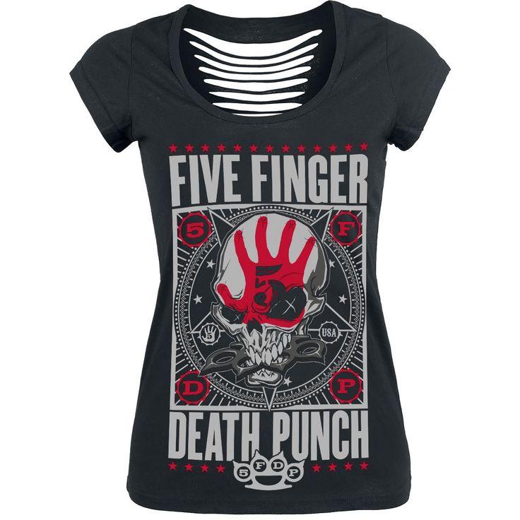 Punchagram - T-shirt Femme par Five Finger Death Punch - Référence de l  91b65ff12faf