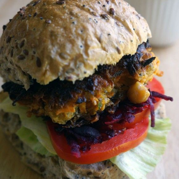 Collect this Chickpea and Sweet Potato Burgers recipe by Vitasoy. MYFOODBOOK.COM.AU | MAKE FREE COOKBOOKS