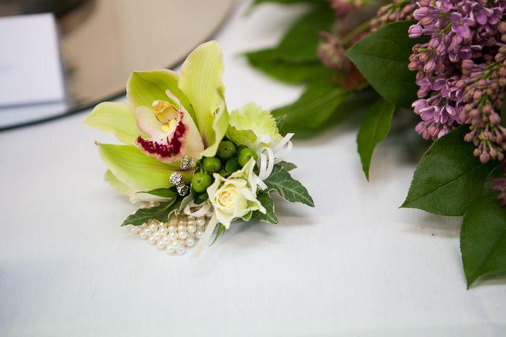Flower Design Events Green Orchid Wrist Corsage Cynbidium