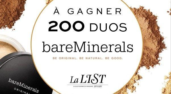 200 duos maquillage Bare Minerals à gagner avec Stylist | Echantillons gratuits, réductions et cadeaux