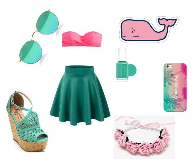 Summer set by anita-gyulai on Polyvore featuring J.Crew, Casetify, Essie and Vineyard Vines