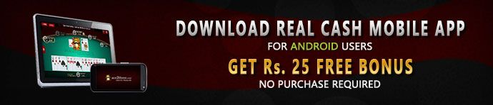Win money on the go with the new #Ace2Three App! Download the hottest rummy app and get Rs.25 Free to play cash games and win real money – whenever and wherever you want!