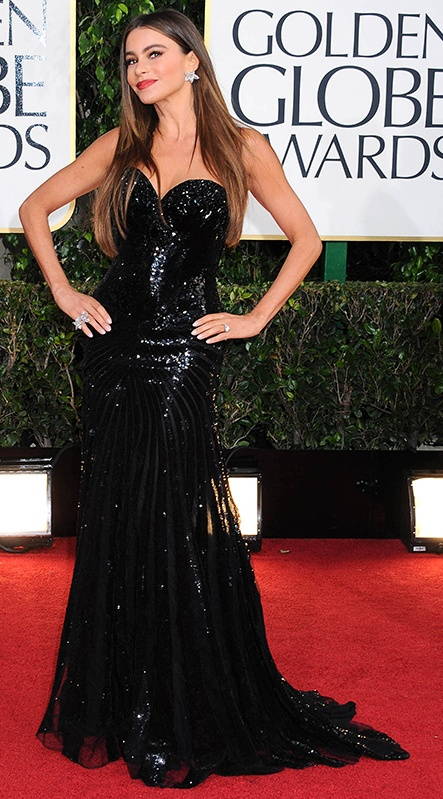 Sofia Vergara in a Michael Cinco gown  2013 Golden Globes