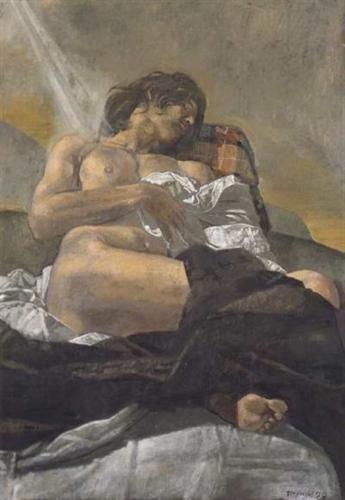Reclining nude - Yiannis Tsaroychis