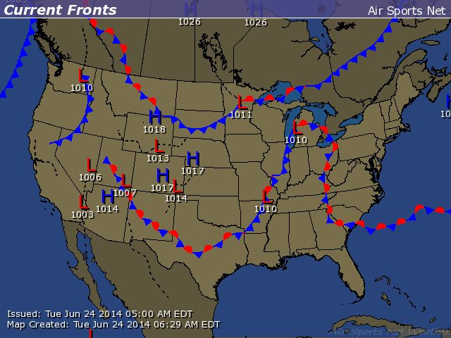 Current Frontal Map For The United States Weather Resources - Current-weather-us-map