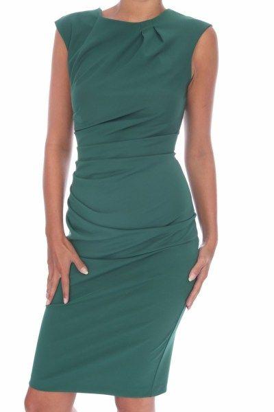 44e25fdc8a9ce3 Rinascimento jurk groen