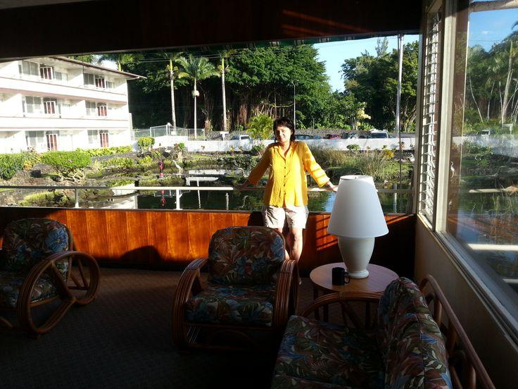 Hawaii Első reggel a szálloda halljában.A többiek még alszanak...