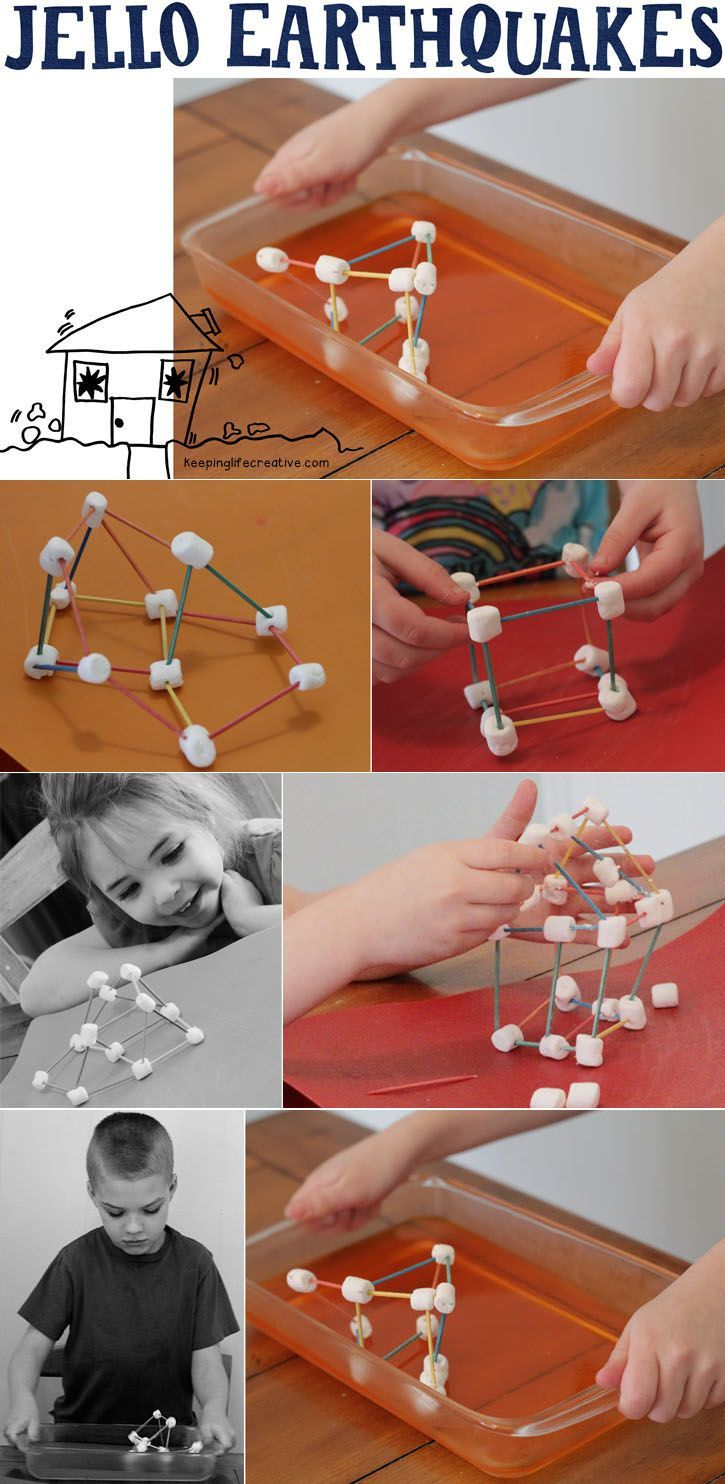 Creative Learning | Jello earthquakes and marshmallow-toothpick structures make a fun object lesson when learning about this shaky, quaky Earth we live on.