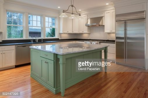 Build A Large Kitchen Island From Stock Cabinets Google