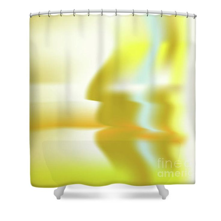 Gold Shower Curtain featuring the digital art Hominium by Ron Labryzz
