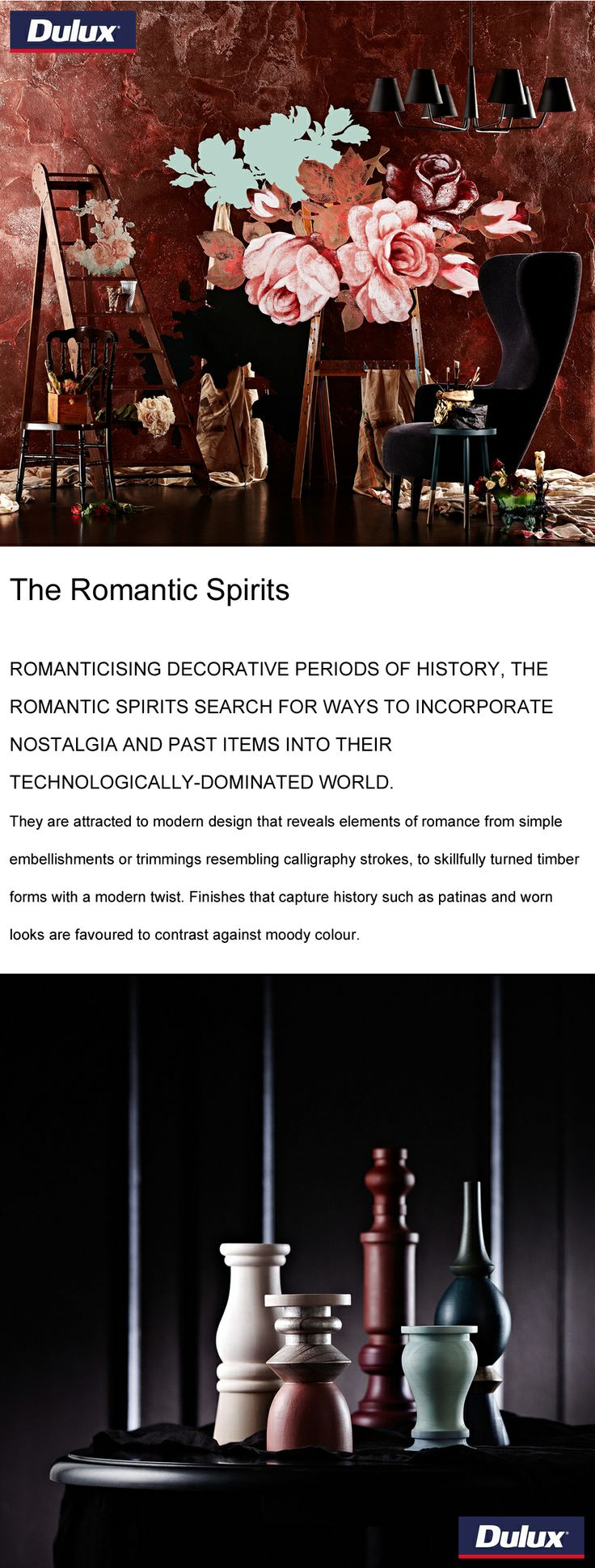 """""""The Romantic Spirits"""" colour forecast from Dulux for 2014.   www.lahood.co.nz"""