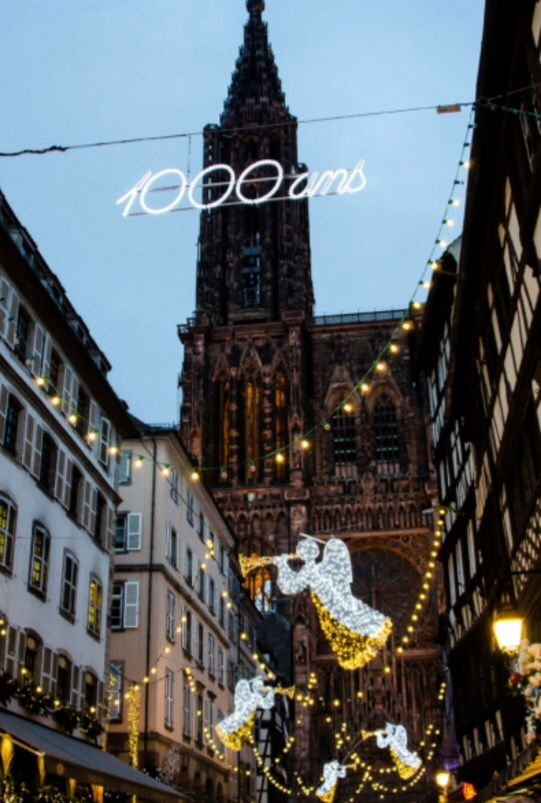 """This Christmas street decoration is from our feature """"Spirits of Strasbourg"""""""