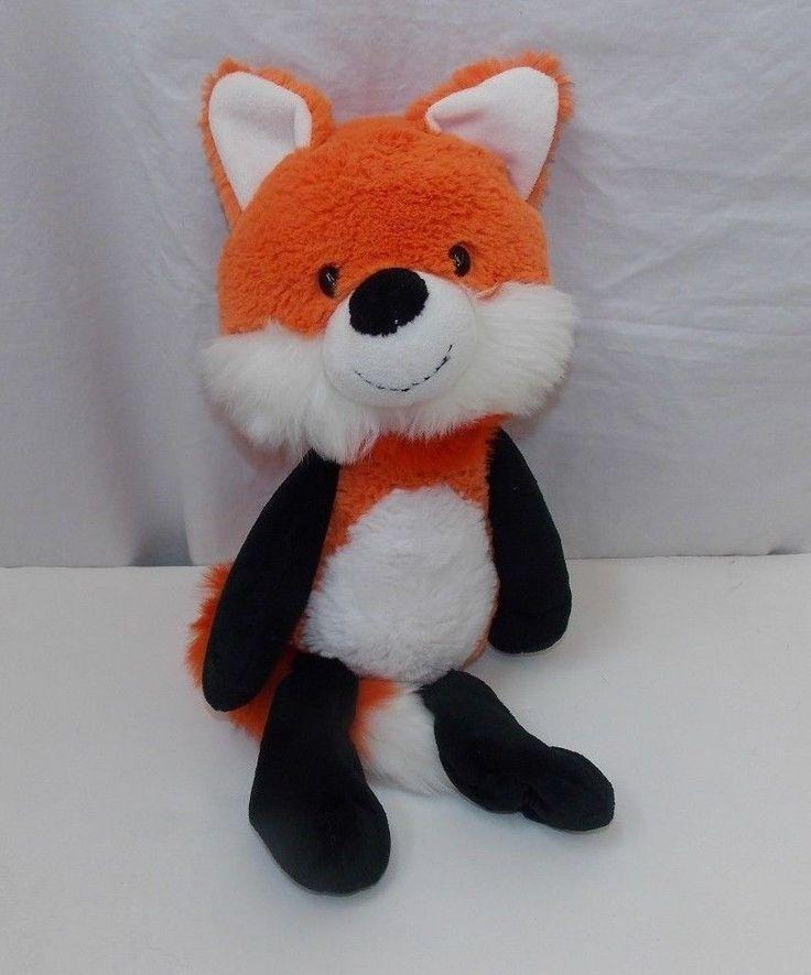"""Target Circo Fox Orange White Black Plush Stuffed Animal Floppy Arms Legs 16"""" #Circo"""
