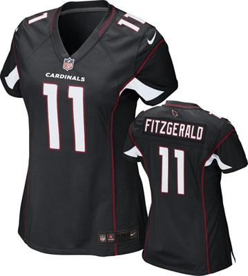 Arizona Cardinals Women's Jersey: Alternate Black Color Game Jersey