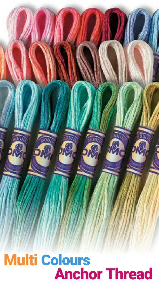 Double colour anchor thread