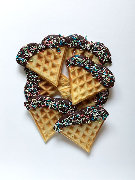 Chocolate dipped waffles