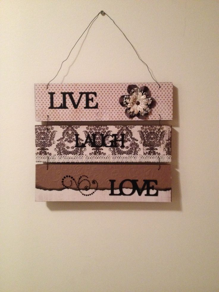 """""""Live Laugh Love"""" wall hanging"""