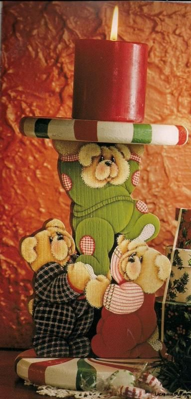 pictures of debbie mitchell painting   PEPPERMINT PRANKSTERS BY DEBBIE MITCHELL BEARS RARE PAINTING