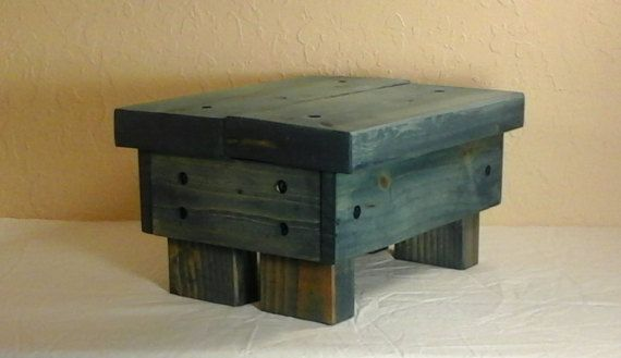 Rustic Step Stool Reclaimed Wood Wooden by RedBarnRusticDesigns