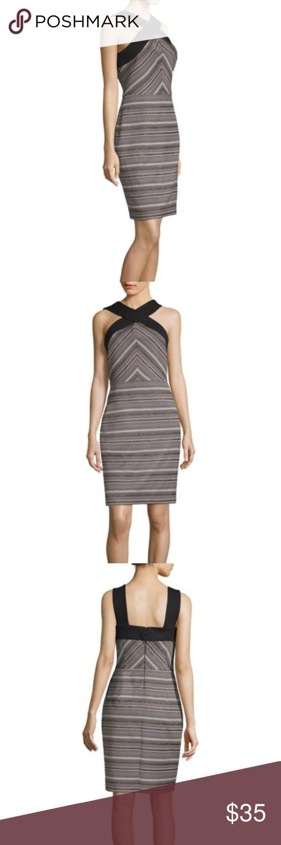Laundry by Shelli Segal Jacquard Geometric Sheath Feminine printed dress with co... 11