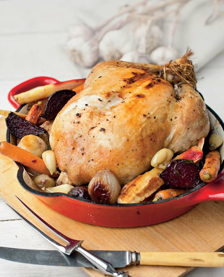 Forty cloves garlic and tarragon chicken with roasted vegetables by Billy Law from Have You Eaten? | Cooked