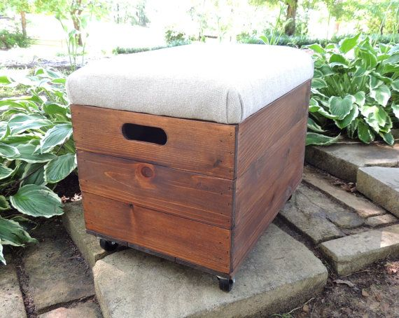 Rustic Cedar Wooden Crate with Casters, Ottoman, Foot Stool, Seat, File  Storage - 34 Best Storage Images On Pinterest