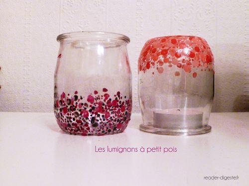 DIY lumignons polka dots