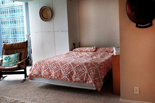 175 best images about basement ideas on pinterest for Apartment therapy murphy bed