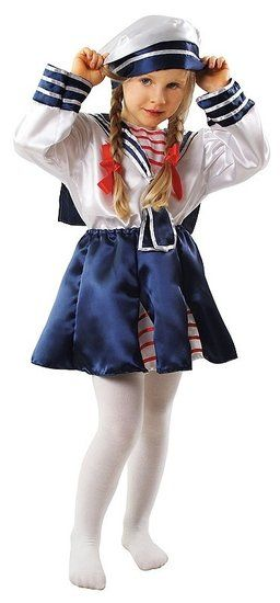 Marine kostuum voor meisjes #marine #matroos #matrozenpak #matrozenkostuum