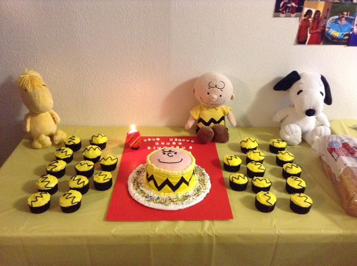 Charlie Brown birthday party! And Parker already owns all three stuffed toys :)