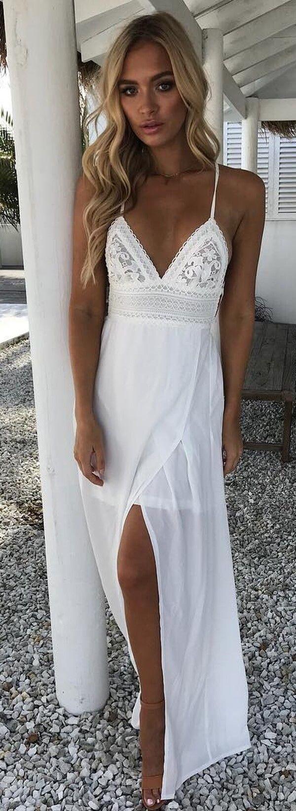 Bohemian White Cotton Maxi Summer Dress Women Fashion Bohemian Summer Dresses Boho Dresses Beach Fa Boho Dresses Long Women Long Dresses White Maxi Dresses [ 1643 x 600 Pixel ]
