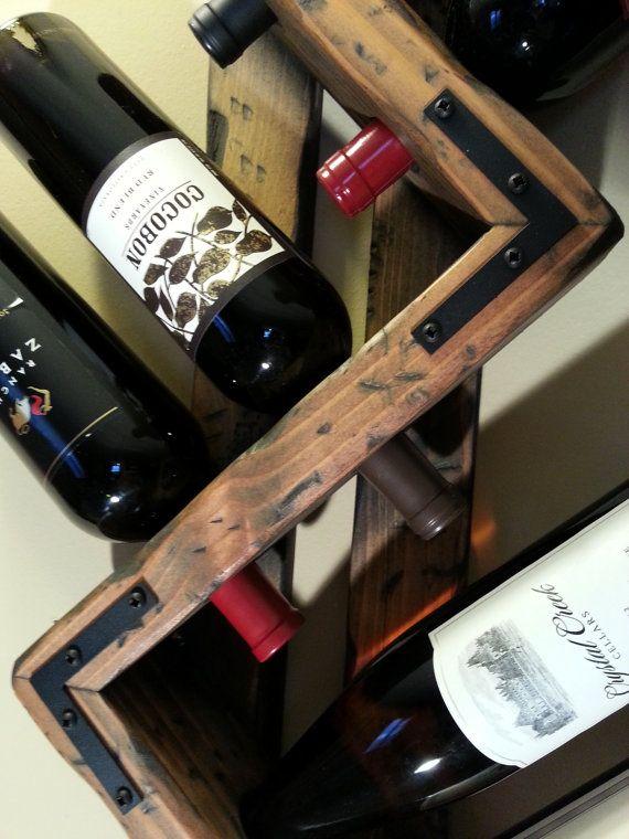 Wine rack. 6 Bottle Wine rack. Small wine by OneByOneCreations