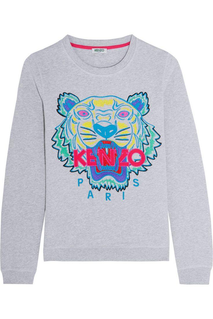 KENZO   Sweat en coton brodé Tiger   NET-A-PORTER.COM