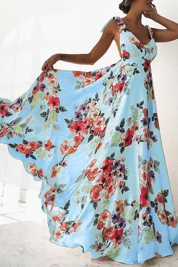 b204bbc7918f6 Sexy Sleeveless Floral Print Maxi Dress-The backless part is a  deal-breaker. My boobs need a bra! Otherwise I love it!