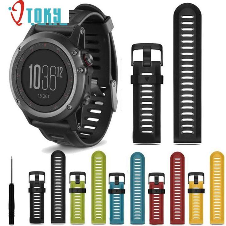 Correas de reloj para garmin fenix 3 correa de silicona venda de reloj herramientas de repuesto nuevas correas de la manera para el regalo ot19