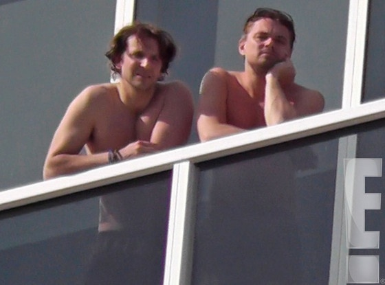 Leonardo DiCaprio and Bradley Cooper Go Shirtless While Ogling Miami's Sights