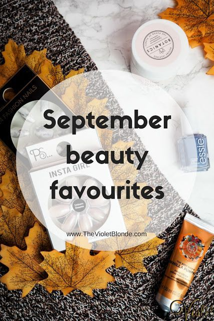 September beauty favourites, including The Body Shop, Boots Botanics, Essie and Primark. Face cream, nails, and hand cream. Autumnal. September. #BeautyCreamsProducts