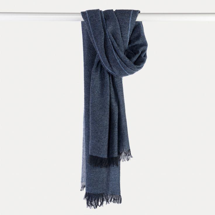 #echarpe #cachemire #bleu #blue #madeinfrance #madeinitaly #luxe #atelierparticulier