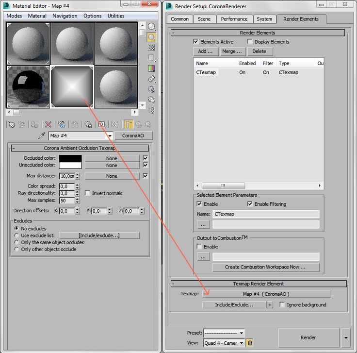 How to add ambient occlusion pass for further post-processing? : Corona Renderer Helpdesk
