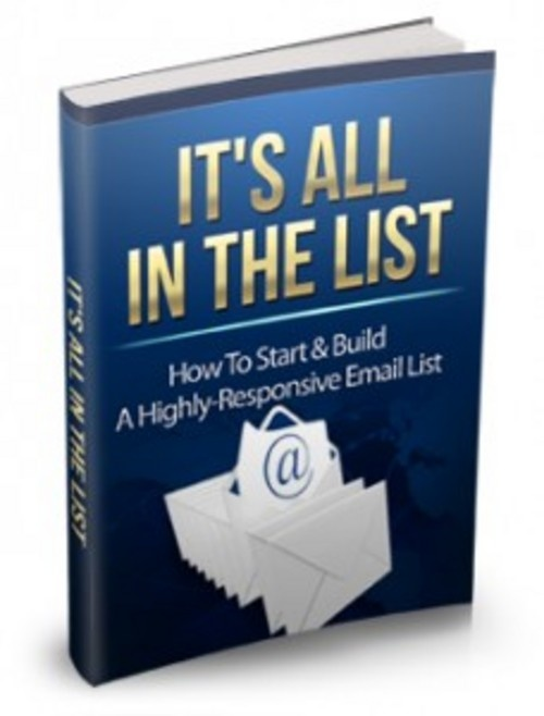Get Your Free E-Book - Its All In The List