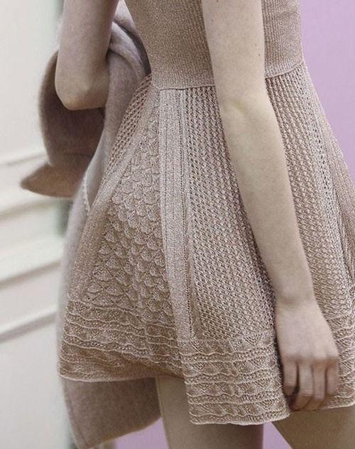 intricately knit skirt back