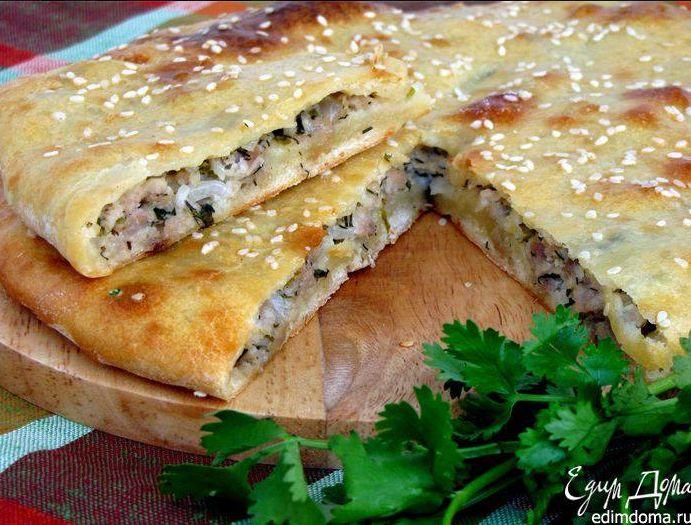 МЯСНОЙ ПИРОГ НА КЕФИРЕ   Победителем дня сегодня стал очень вкусный пирог с хрустящим тестом и сочной начинкой! http://www.edimdoma.ru/retsepty/57049-myasnoy-pirog-na-kefire,from Iryna