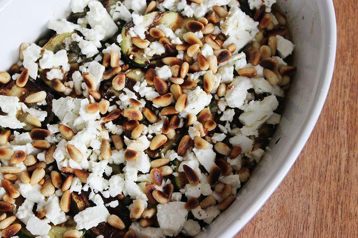 Antipasti Zucchini mit Fetakäse   Familienkantine