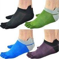 Wish   1 Pair/Lot New Men's Socks Cotton Meias Sports Five Finger Socks Toe Socks For EU 40-46 Calcetines Ankle Sox -N2